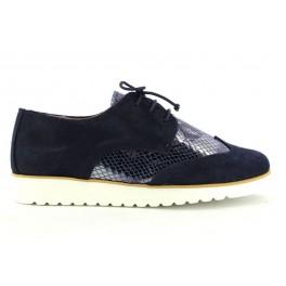 6041745bad Zapatos con cordones de EUFORIA modelo MULAN 16 color azul marino