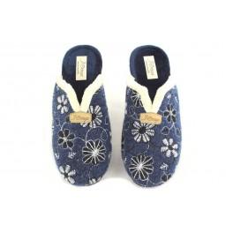 Zapatillas de casa de PINTURINES modelo 1804 color azul marino