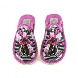 Zapatillas de casa de SLIPPER modelo 605-24 color fucsia