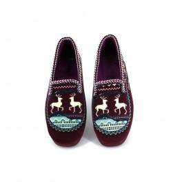 Zapatillas de casa de ALCALDE modelo 2800 color burdeos