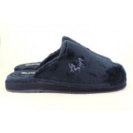 Zapatillas de casa de ANDINAS modelo 3001LISA color azul marino