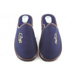 Zapatillas de casa de CARMELO RODRIGUEZ modelo 797 color azul marino