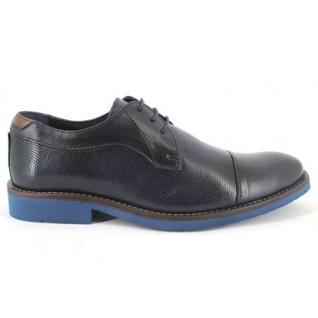 Zapatos con cordones de BAERCHI modelo 4031PICADO color azul marino