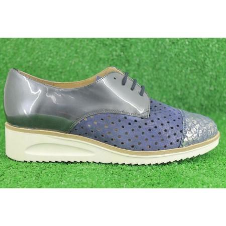 Zapatos con cordones de PIE SANTO modelo 1620 color azul marino