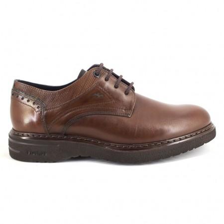 Zapatos con cordones de FLUCHOS modelo F0344 color camel