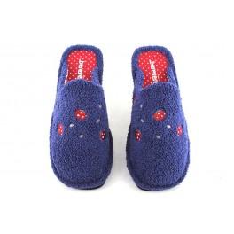 Zapatillas de casa de BEREVERE modelo 0408 color azul marino