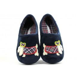 Zapatillas de casa de BEREVERE modelo 7509 color azul marino