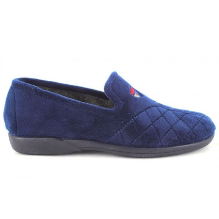 Zapatillas de casa de DEVALVERDE modelo 3002 color azul marino