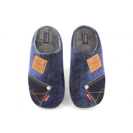 Zapatillas de casa de DEVALVERDE modelo 3006 color azul marino