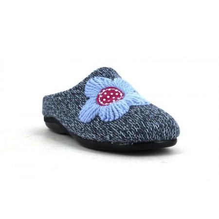 Zapatillas de casa de DEVALVERDE modelo 6002 color azul marino