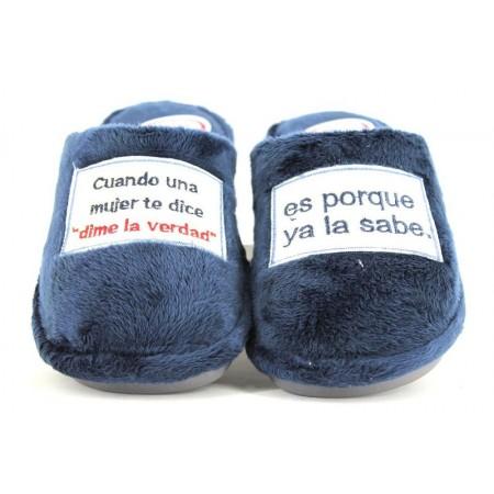 Zapatillas de casa de LARO modelo 8868 color azul marino