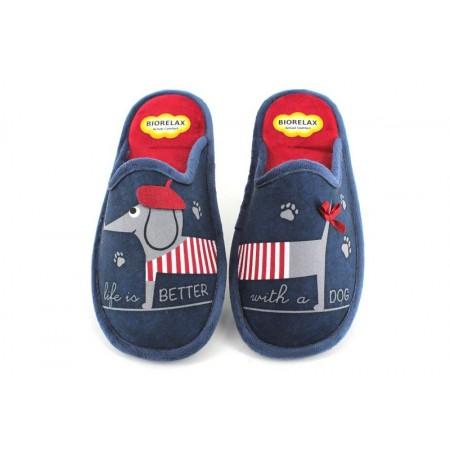 Zapatillas de casa de COSDAM modelo 4549DOG color azul marino