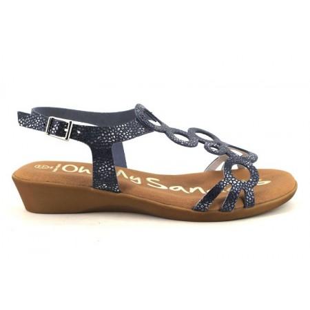 Sandalias de OH MY SANDALS modelo 4323-2371 color azul marino