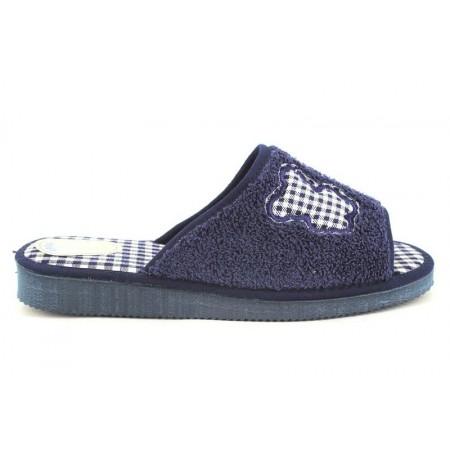 Zapatillas de casa de CARMELO RODRIGUEZ modelo 373 color azul marino