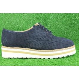 Zapatos con cordones de LA COLECCION modelo 2087N color azul marino
